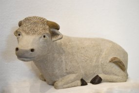 Ox in Pyrenean Stone - Creche Paysanne